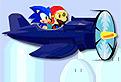 Sonic si Mario in Avion