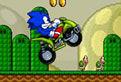 Sonic pe ATV in Lumea lui Mario