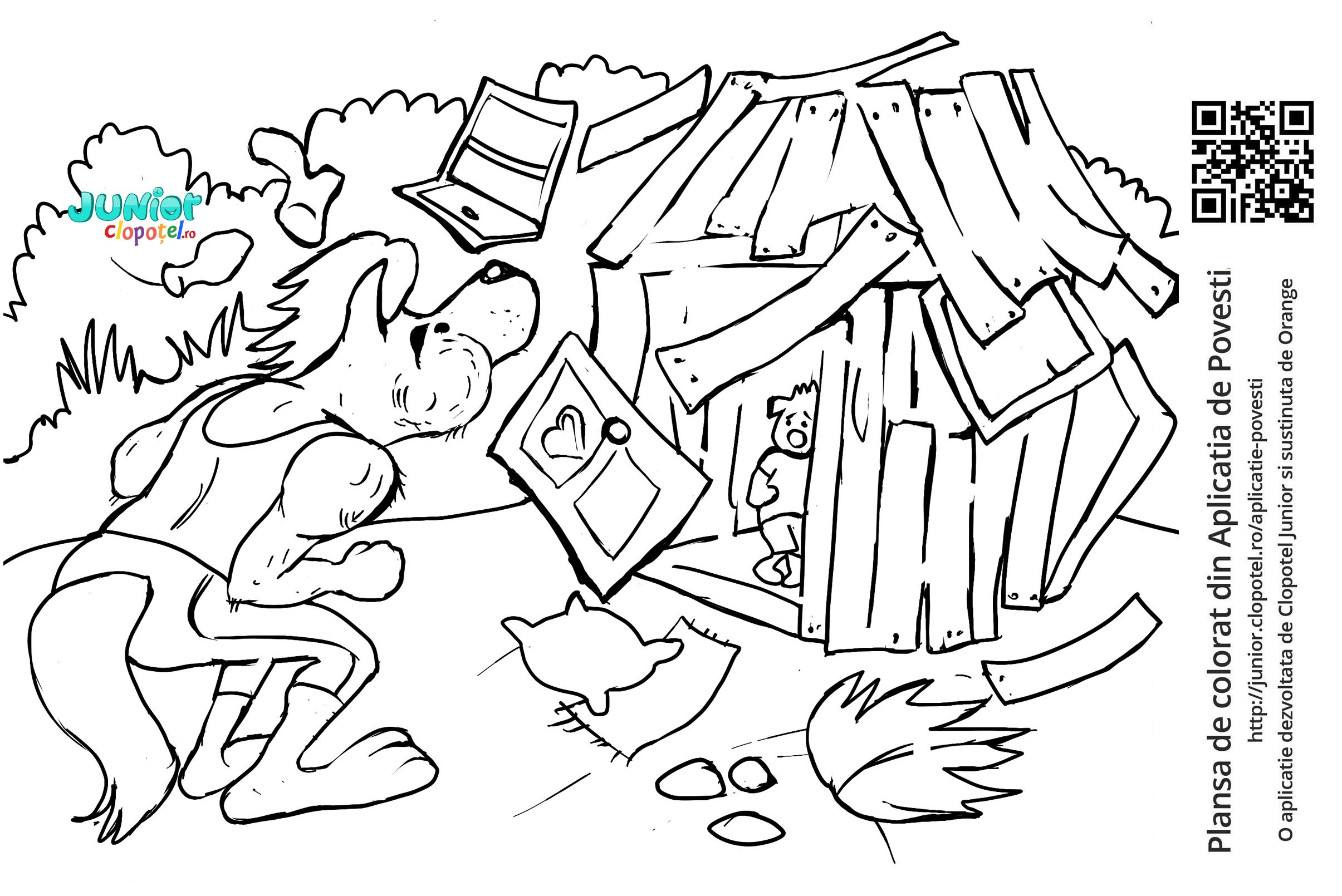 Casa purcelusului Nuf Nuf suflata de lup