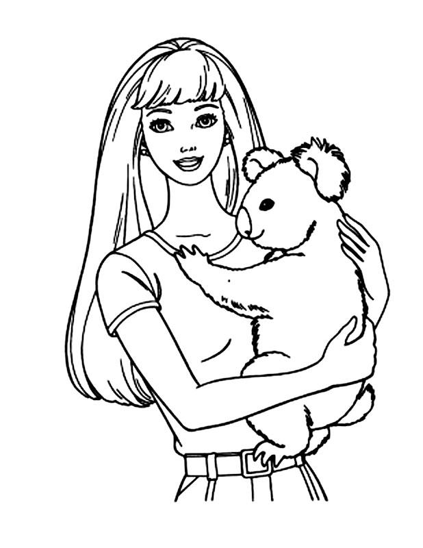 Barbie cu un ursulet koala