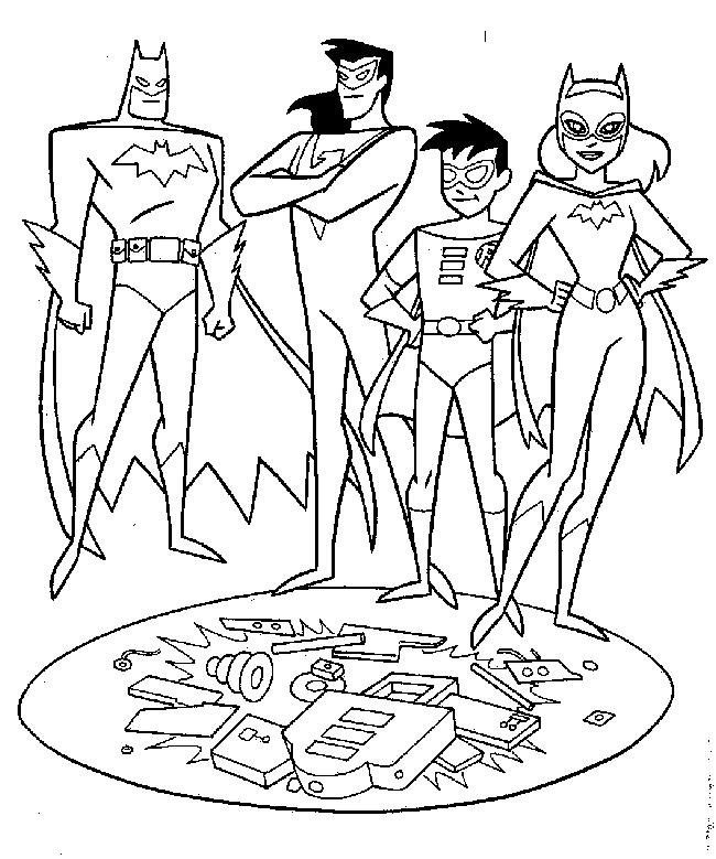 Batman, Robin, Catgirl si Nightwing