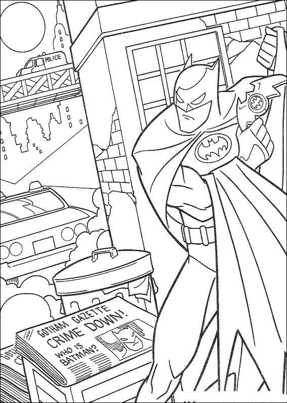 Batman citeste ziarul