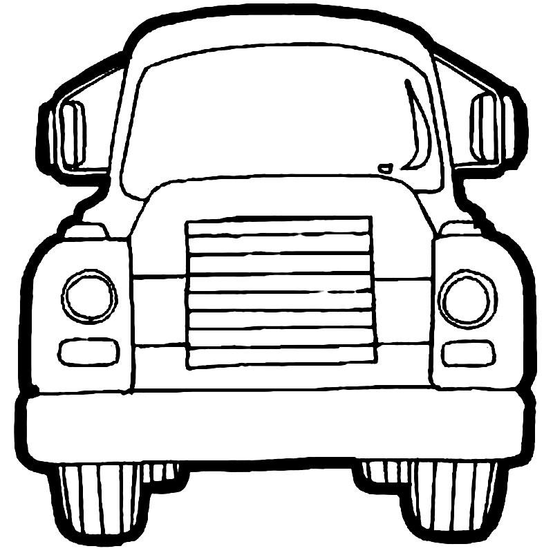 plansa de colorat cu un camion