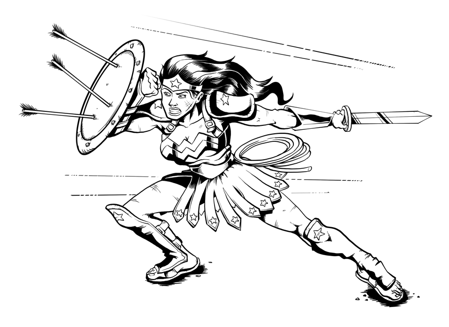 Femeia fantastica in defensiva