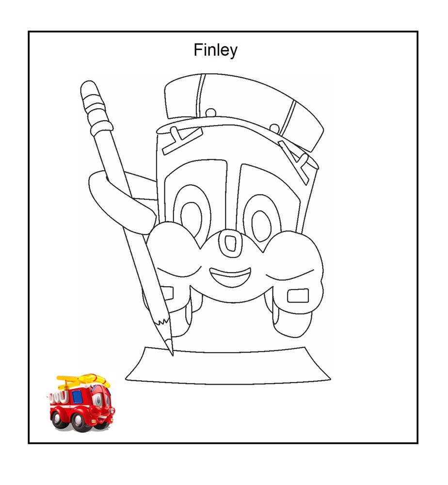 Masina Finley de colorat