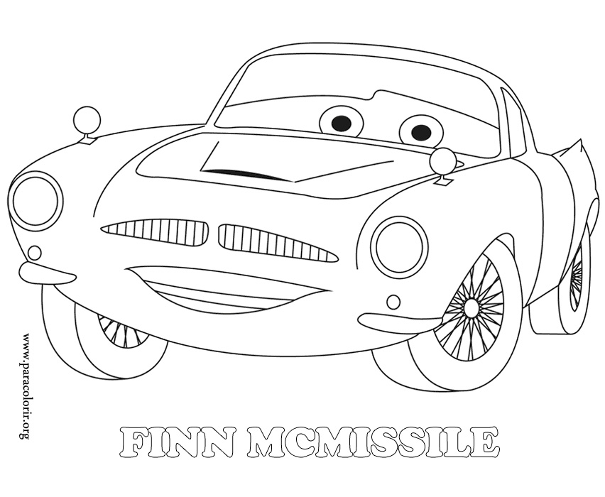 Masina finn mcmissile de colorat for Finn mcmissile coloring page