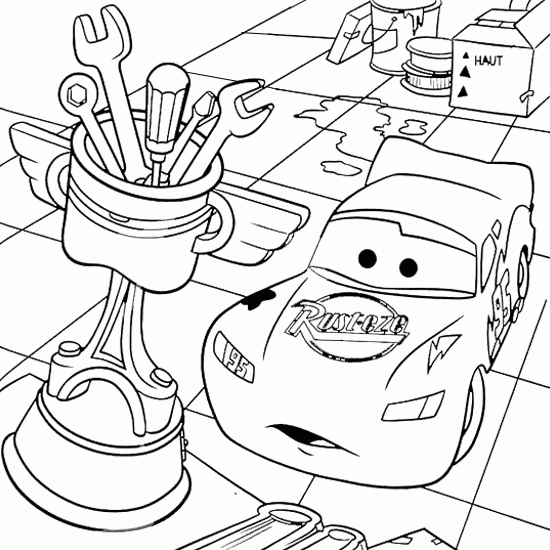 Masina lightning mcqueen - Coloriage cars halloween ...