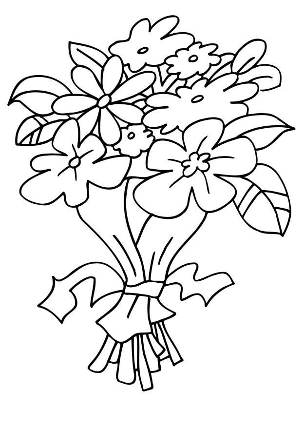 Buchet De Flori Planse De Colorat