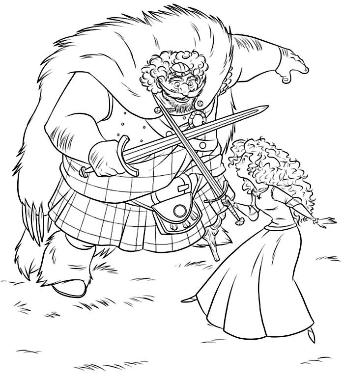 Regele Fergus si printesa Merida