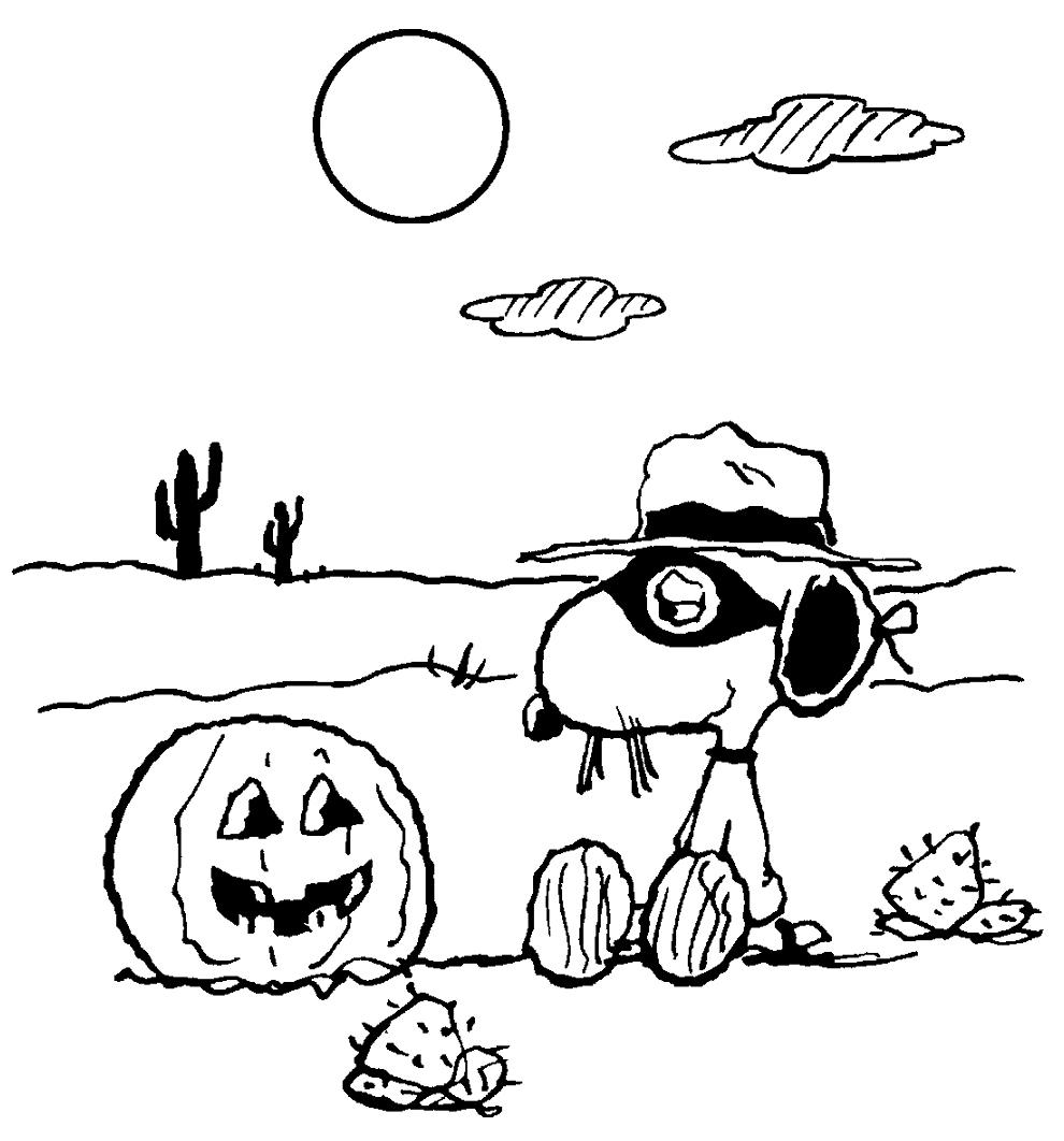 dovleacul de halloween si snoopy