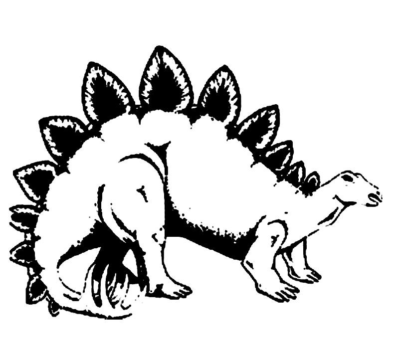 plansa colorat dinozaur 1
