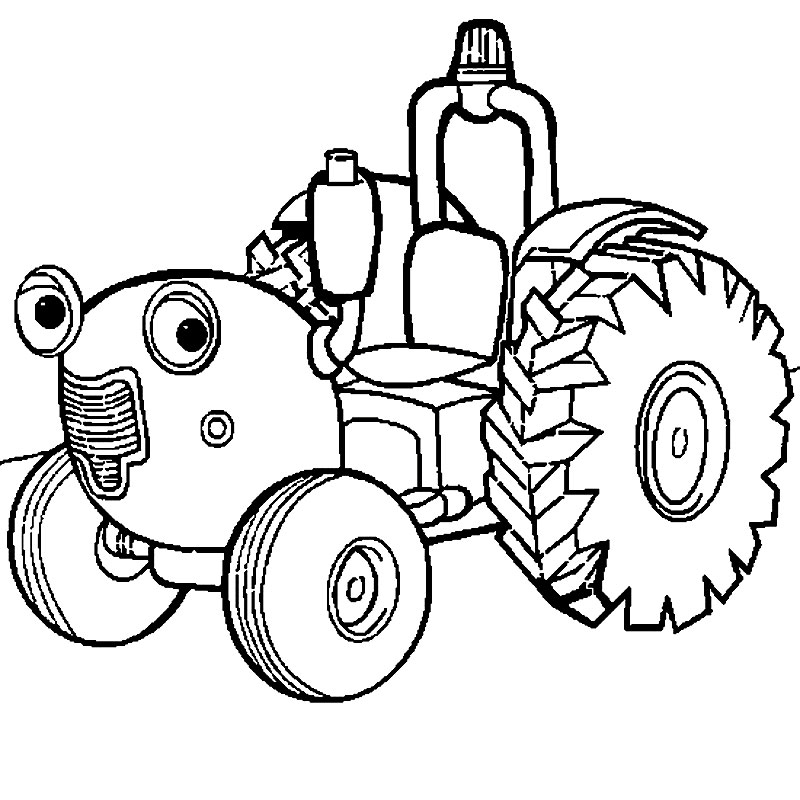 Tractor Tom De Colorat