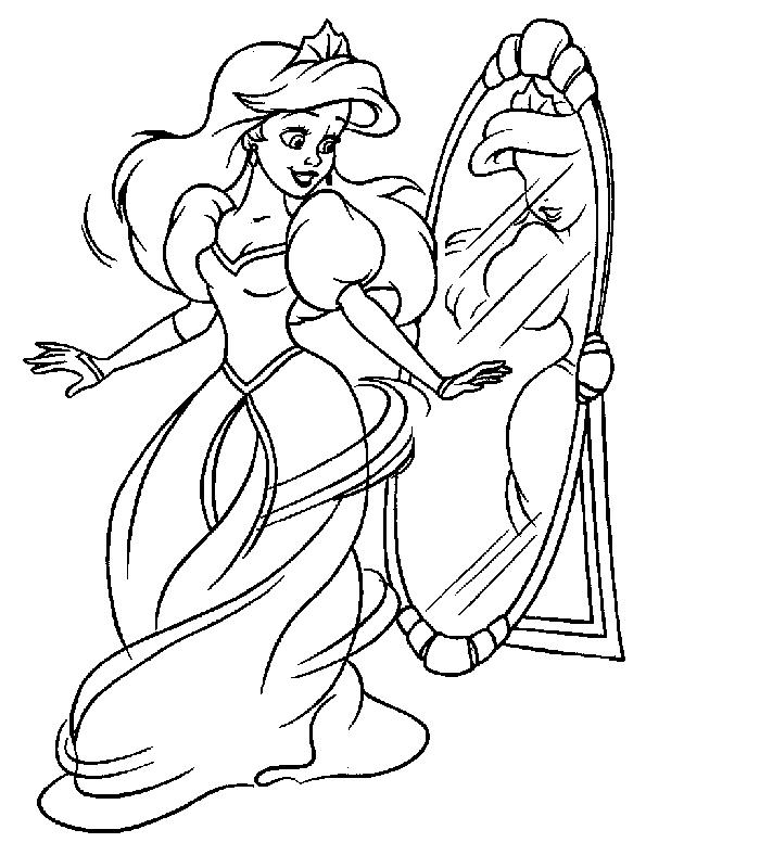 Plansa De Colorat Cu Ariel