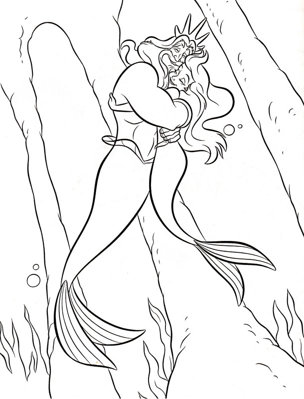 Ariel imbratisata de Triton