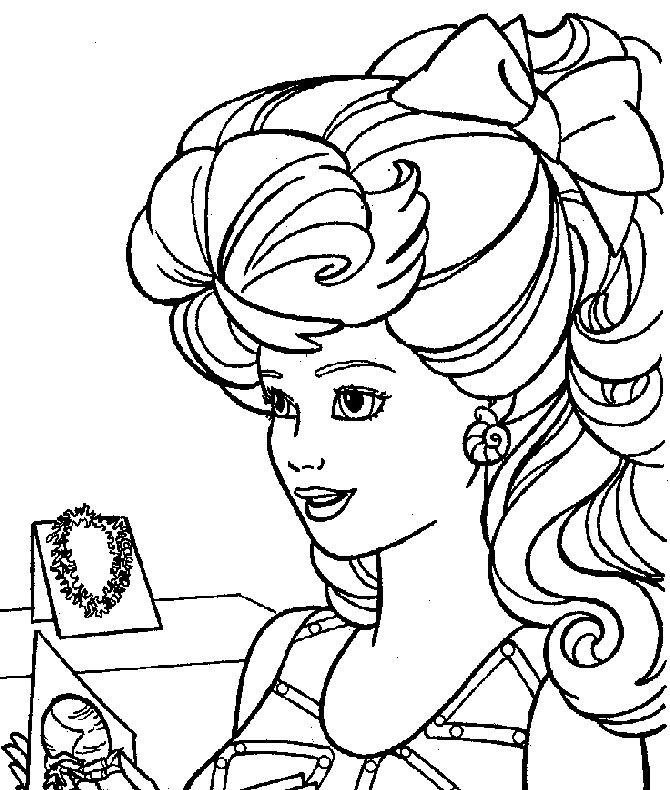 Barbie la coafor