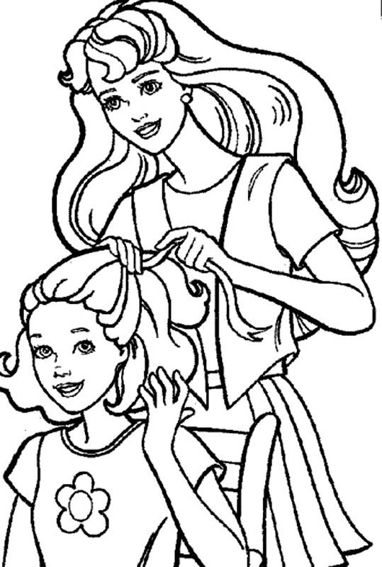 Barbie cu sora ei