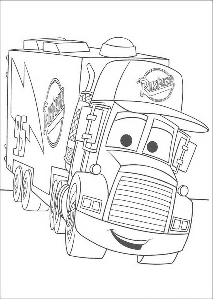 camionul mack din cars de colorat