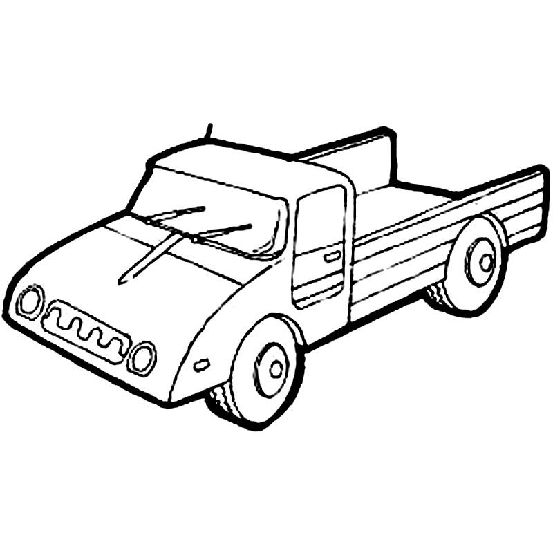 Camion micut de colorat
