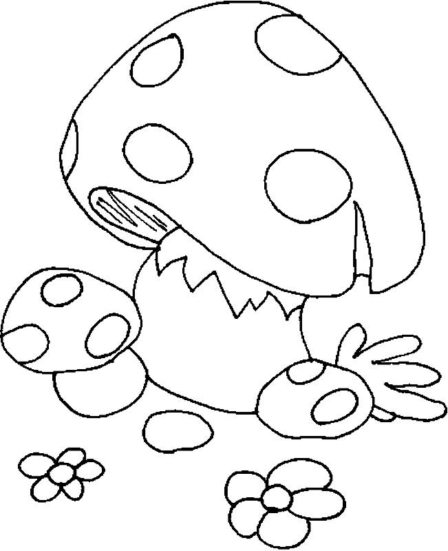 Coloreaza ciuperca!