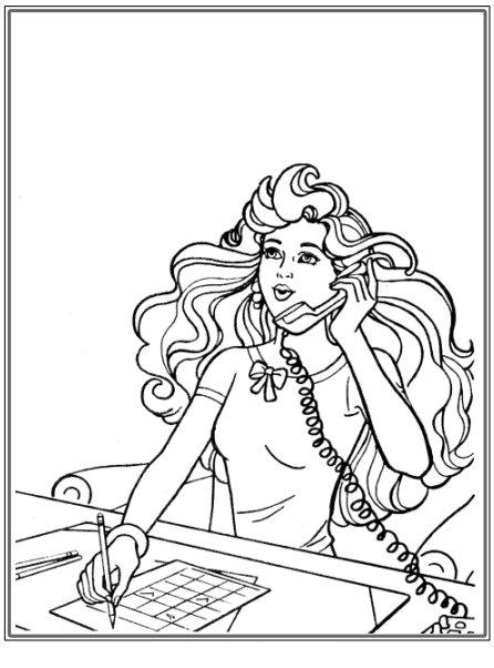 Barbie la telefon