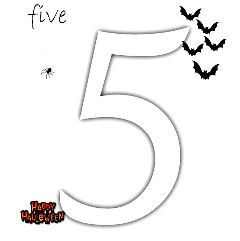 Coloreaza numarul 5!