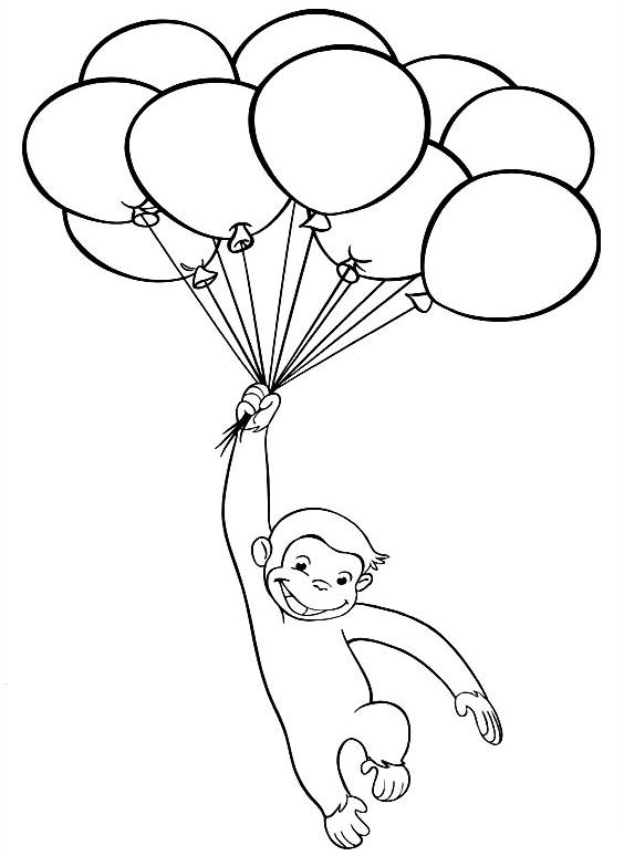 Curiosul George si baloanele