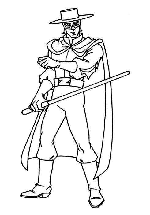 Zorro de colorat