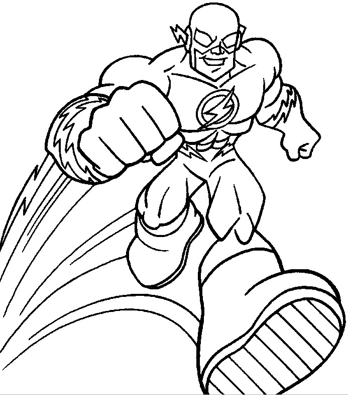 Free Coloring Pages Of Flash The Avenger