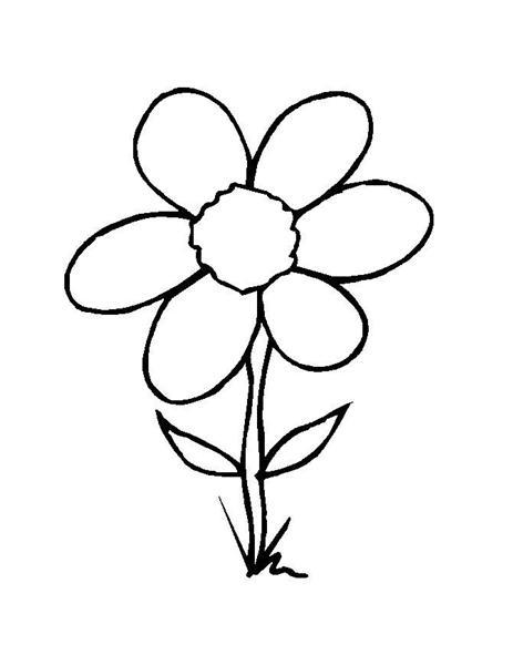 Plansa de colorat cu o simpla floricica