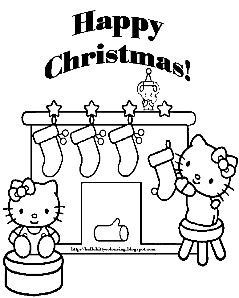 Barbie in a christmas carol coloring pages ~ Hello Kitty aseaza ciorapii