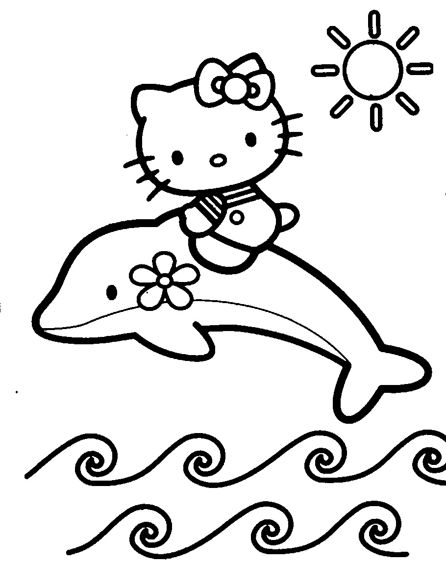 Hello Kitty Delfin Colorat