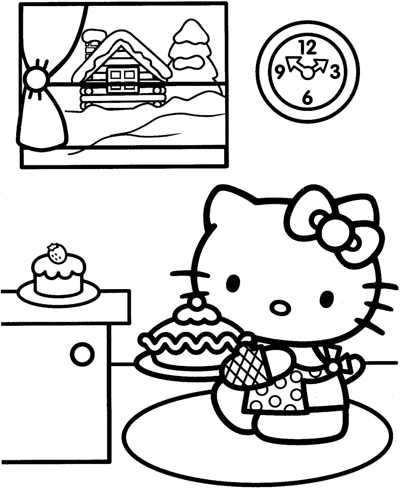 Hello Kitty la bucatarie