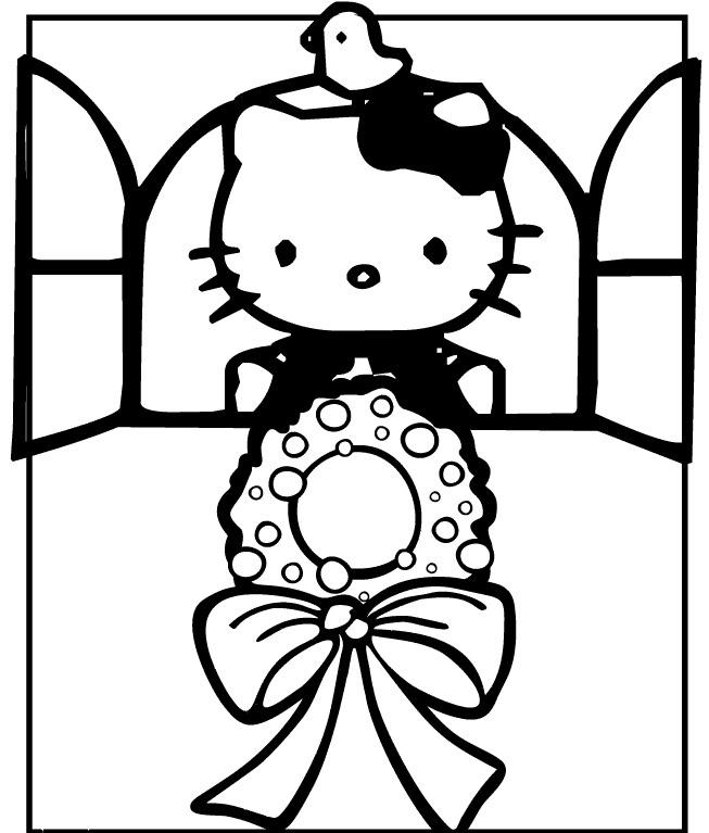 Hello Kitty la fereastra
