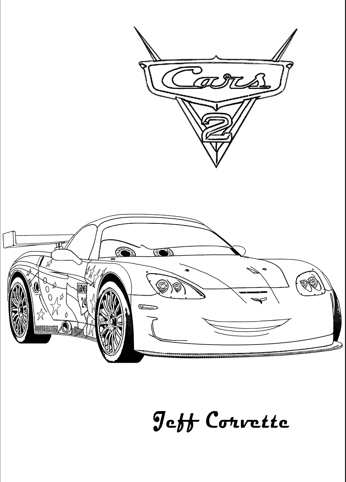 Jeff Corvette din Cars 2