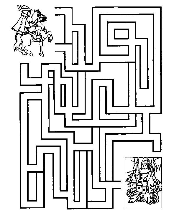 Labirint Cu Printul Spre Castelul Printesei Aurora