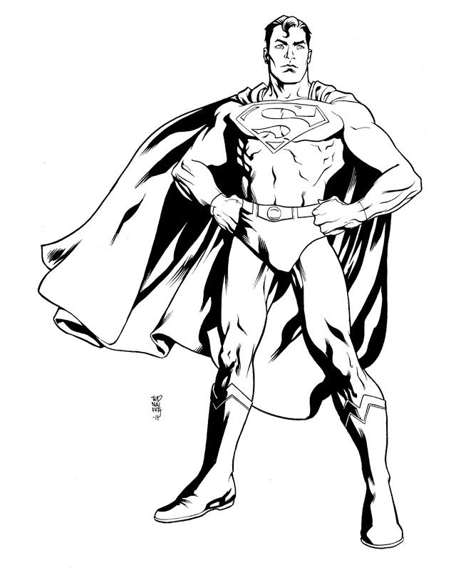 Plansa de colorat cu Man of Steel