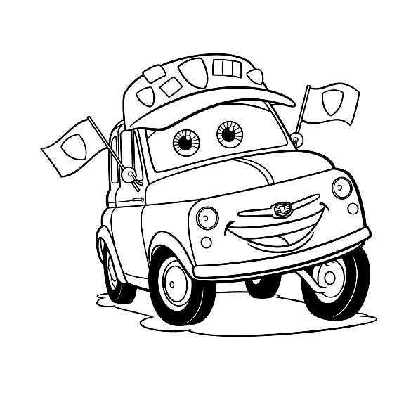 Cars Lightning Mcqueen Kleurplaat Masina Nostima Luigi