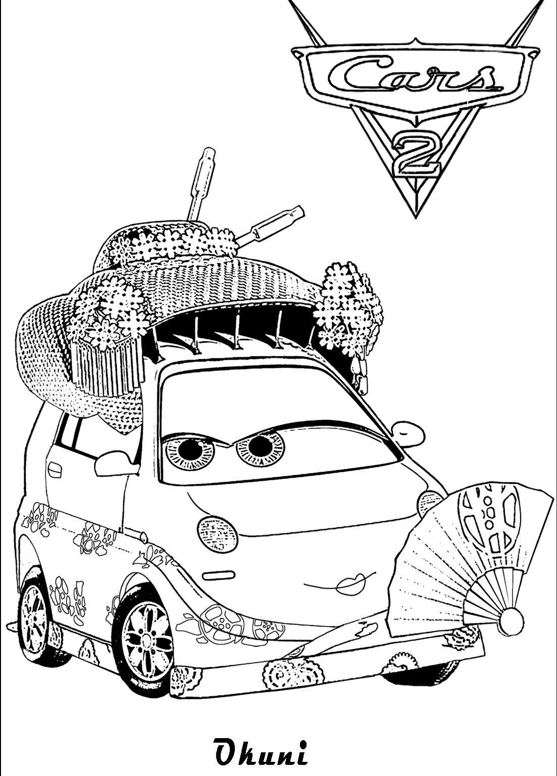 Cars Kleurplaat Max Schnell Plansa De Colorat Cu Okuni Din Cars