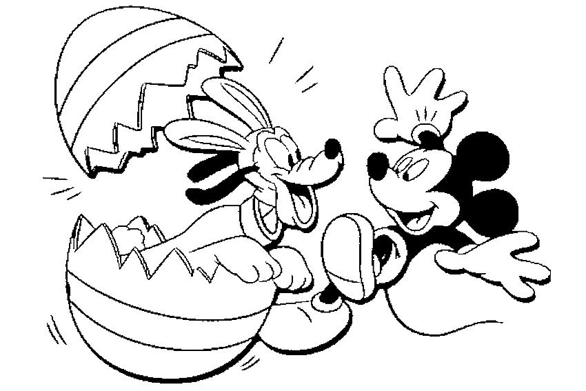 Oul de Pasti, Pluto si Mickey