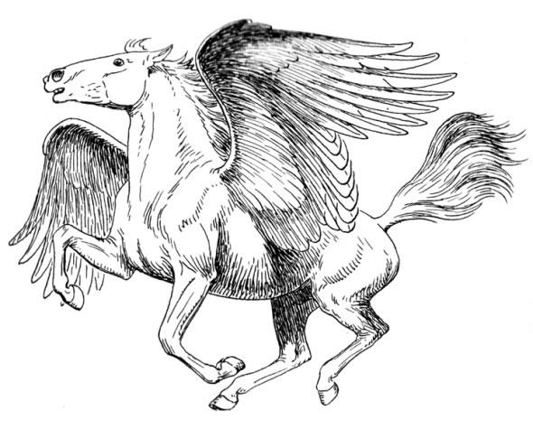 Cal cu aripi din mitologie - Pegasus