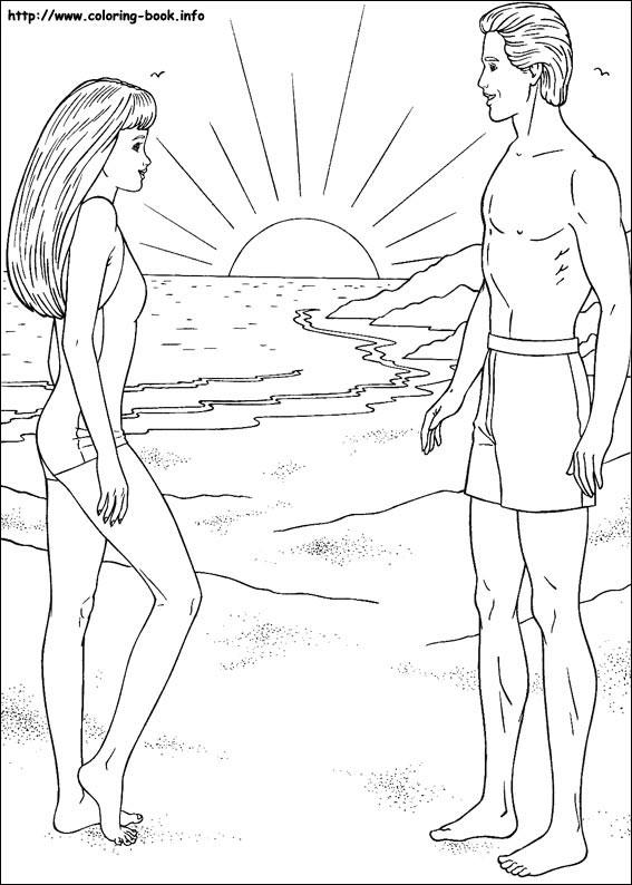Barbie si Ken la plaja