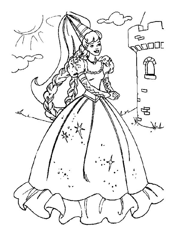 Plansa De Colorat Cu Printesa Fericirii