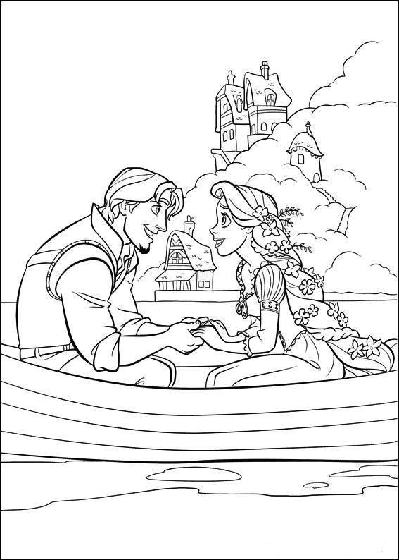 Rapunzel In Barca Cu Printul