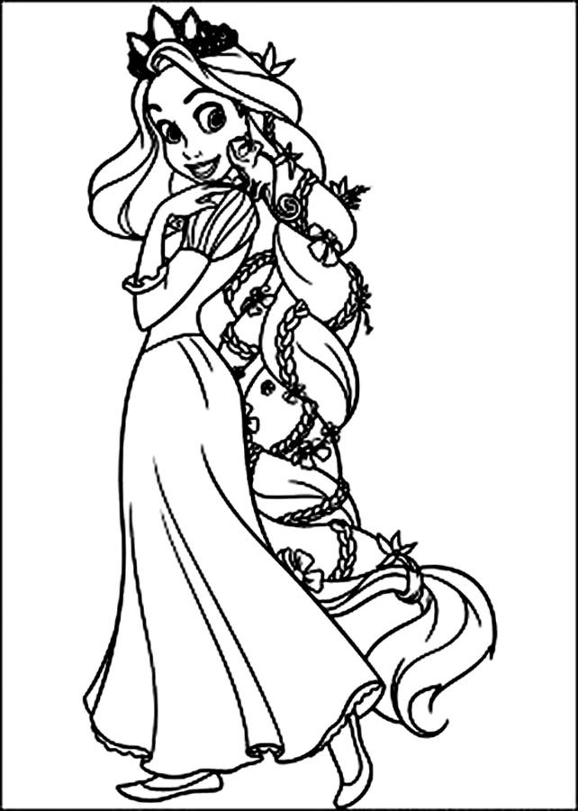Coloreaza Printesa Rapunzel