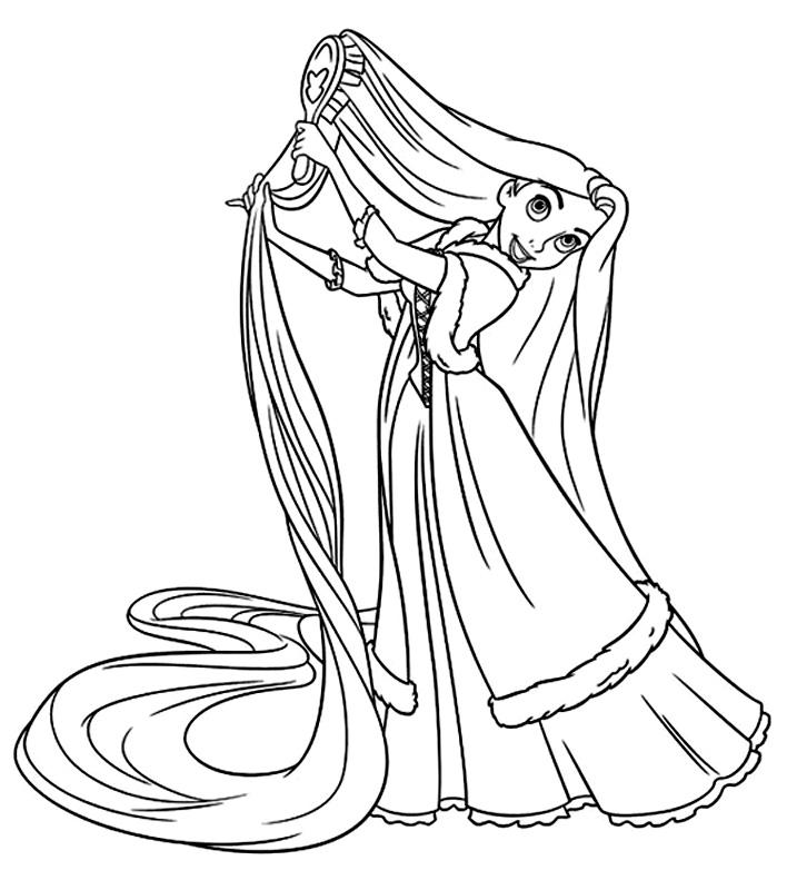 Rapunzel se piaptana