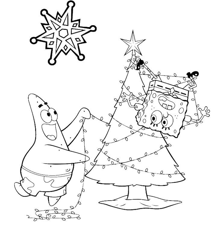 Spongebob si Patrick impodobesc bradutul