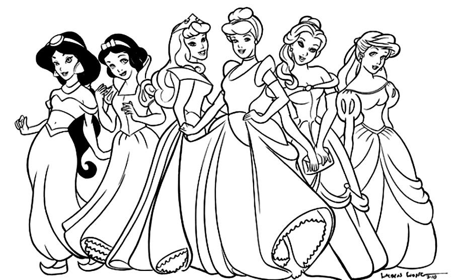 Раскраска принцесса - 3