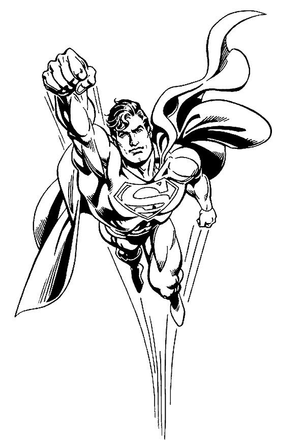 Superman de colorat