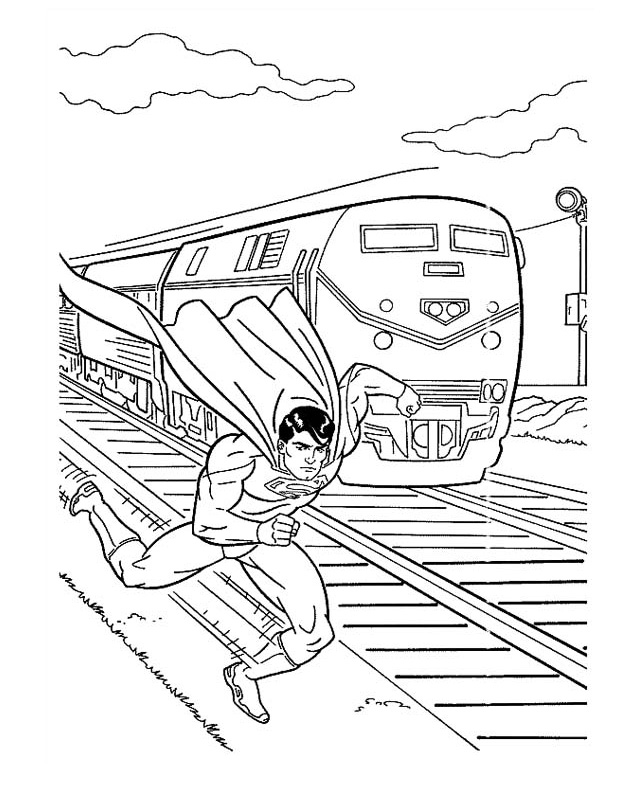 Superman intrece trenul