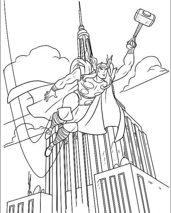 Thor de colorat